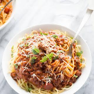 Filipino Style Spaghetti Sauce.