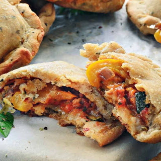 Whole Wheat Roasted Vegetable Pizza Pockets