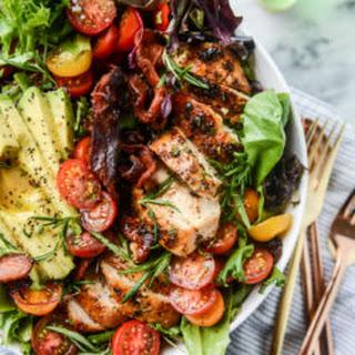 Rosemary Chicken, Bacon and Avocado Salad