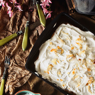 Spiked Coconut Tres Leches Cake.