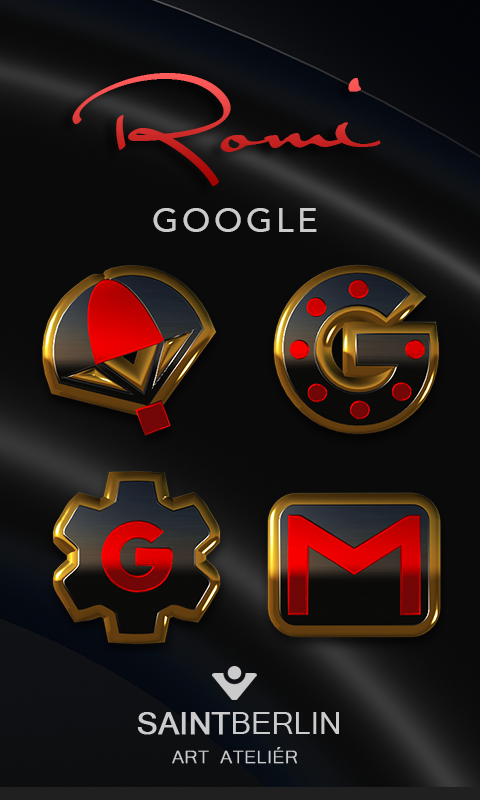 Romi HD Icon Pack Gold Red- screenshot