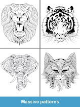 Coloring pages:Animals Mandala - screenshot thumbnail 20