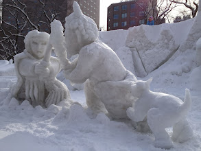 Photo: Snow dog to the rescue