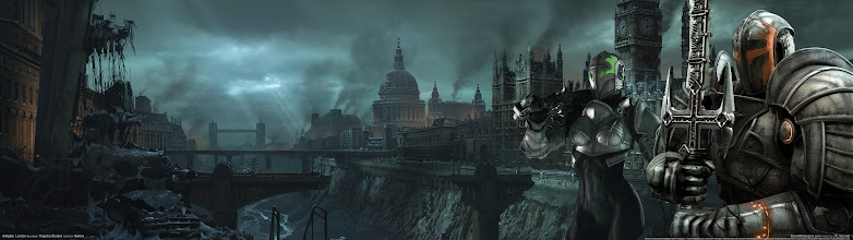 Photo: Dual-Monitor Wallpaper of the Day  From the game #Hellgate: London.  The album: https://plus.google.com/photos/113858797523322684974/albums/5894547191044530097  The images are all at least 3840x1080. They are and will be mostly   #scifi and #fantasy related.  #desktopwallpapers   #dualmonitor
