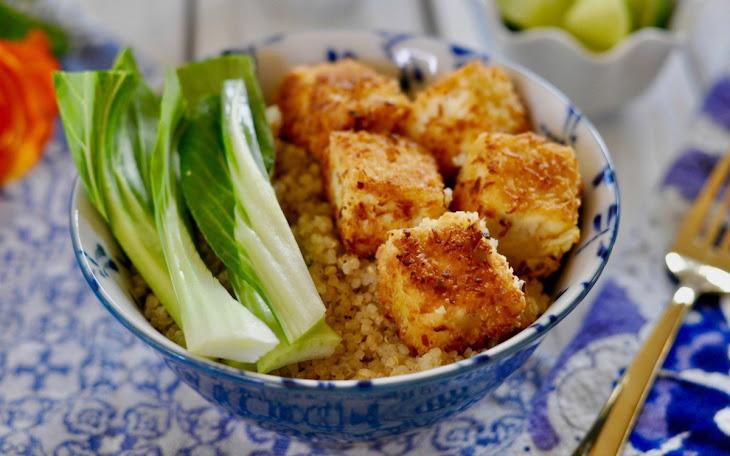 Easy Baked Tofu with Coconut Panko Breadcrumb Crust [Vegan, Gluten-Free] Recipe