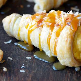 Puff Pastry Cornucopias with Pumpkin-Coconut Mousse.