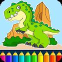 Dinosaurio juego de color icon