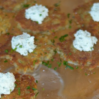 Potato Rosti w. Herbed Goat Cheese