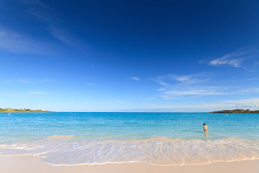 A beach at Sandals Emerald Bay in Great Exuma in the Bahamas.