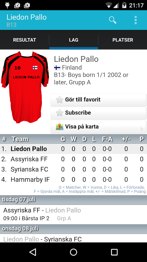 Södertälje Int Football Cup- screenshot