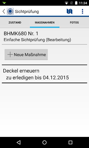 android RIWA Schachtkontrolle Screenshot 1