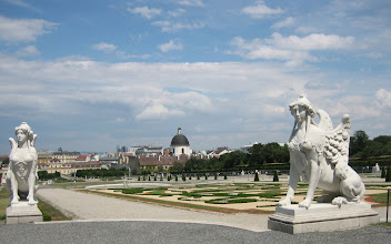Photo: One of our apartments near Belvedere Castle with the wonderful view of Vienna