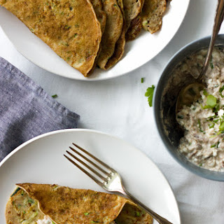 Zucchini Crepes With Tuna Salad