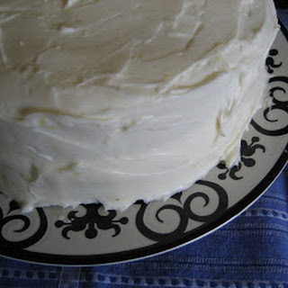 White Cake with Lemon Filling and Lemon Cream Cheese Frosting Recipe