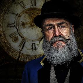 grandfarthers clock by Eddie Leach - People Portraits of Men ( men, portraits, people, portrait, man )