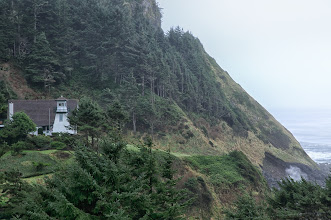 """Photo: Private lighthouse just south of Yachats. Named """"Cleft of the Rock"""" it was built in 1978. Discovered existence from visitors information kiosk at the Newport lighthouse!"""