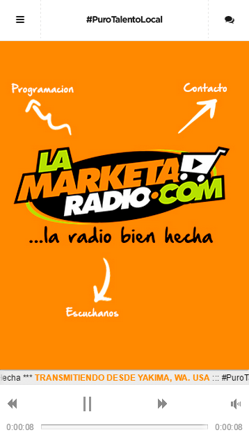 La Marketa Radio: captura de pantalla