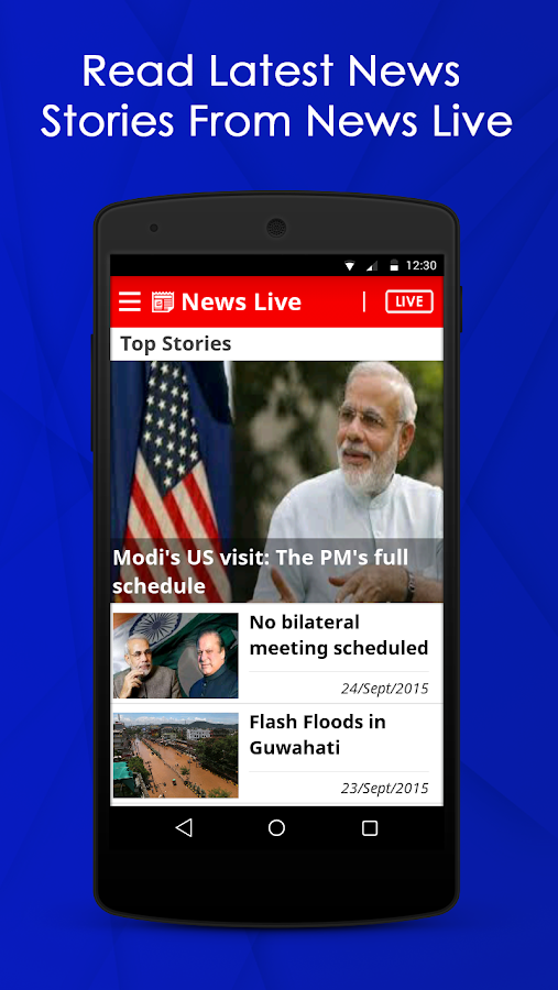 Newslive- screenshot
