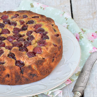Cherry and Almond Cake.