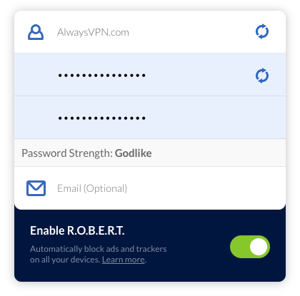 signing in to Windscribe VPN account