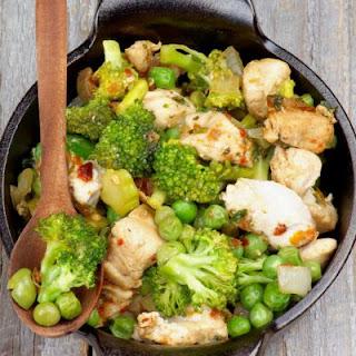 Healthy and Satisfying Chicken Veggie Stir Fry.