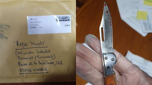 Identifican al autor del envío del sobre con una navaja a la ministra