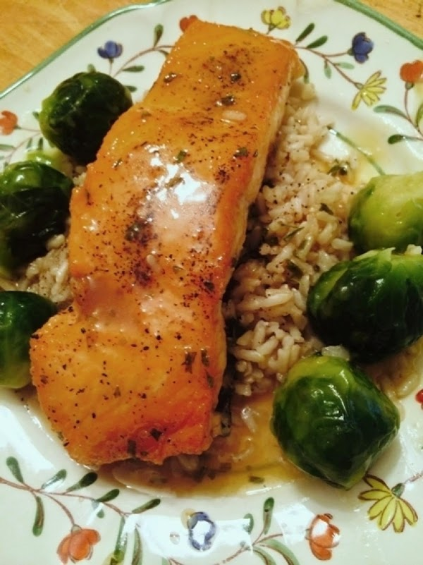 Salmon With Honey Lime Butter Sauce Recipe