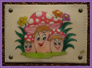 """Photo: """" champignons """" envoyée à Sandrine ."""