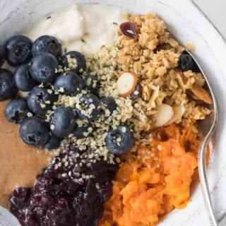 Easy Vegan Sweet Potato Breakfast Bowls.