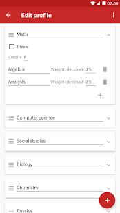 GradeCalc - Grade Calculator - náhled