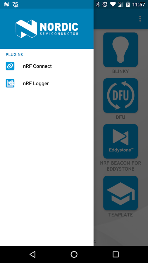 nRF Toolbox for BLE- screenshot