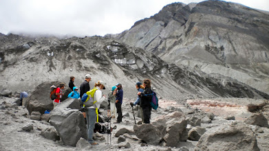 Photo: Leaving the toe of the glacier to start back down