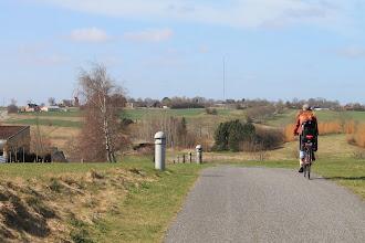 Photo: Landskab ved Smørum. Smørumovre Kirke i horisonten til venstre. Smørumovre Church left in the horizon
