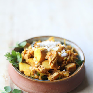 Phansaachi Athla-Gara Bhaaji (Stir fried Young Jackfruit)