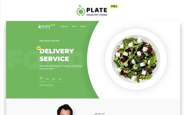 лучший бесплатный шаблон темы ботстрапа веб-сайт доставка еды ресторан