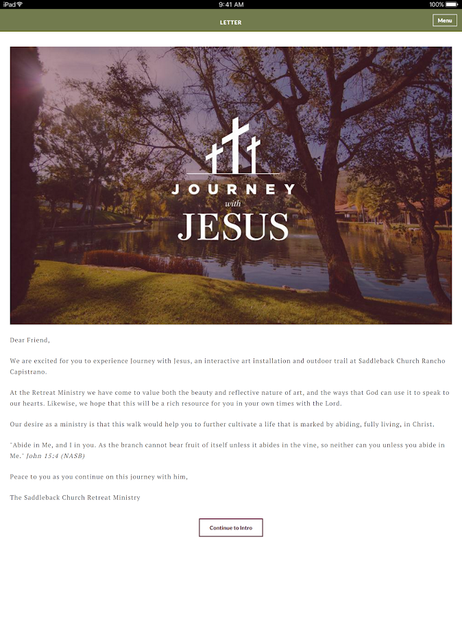 Journey with Jesus- screenshot