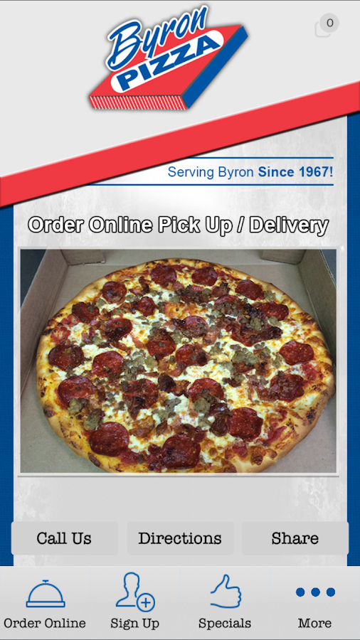 Byron Pizza- screenshot