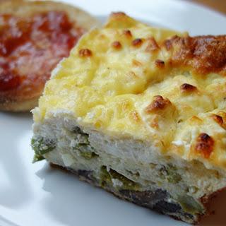 Asparagus, Mushroom & Goat Cheese Breakfast Casserole
