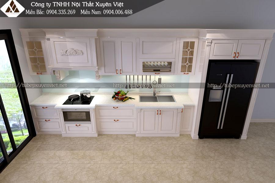 tủ bếp tân cổ điển xuyên việt 3