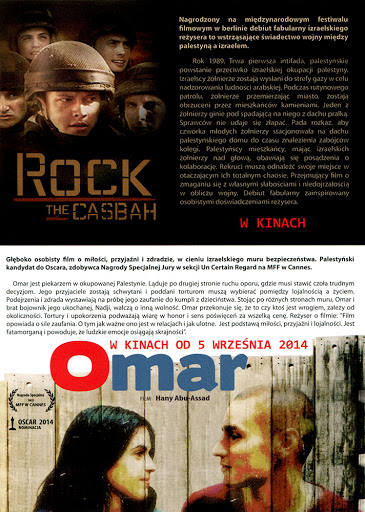 Tył ulotki filmu 'Rock The Casbah'