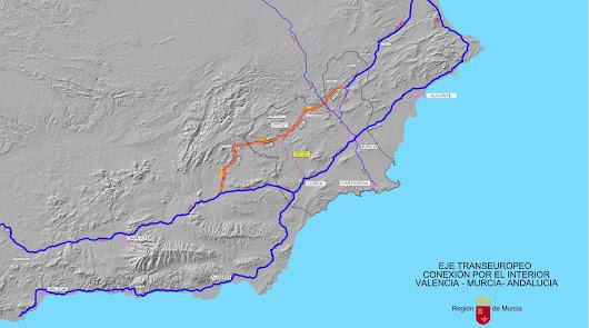 Murcia pide una autovía interior que evite la provincia de Almería