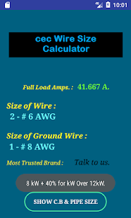 Cec wire size calculator full android apps on google play cec wire size calculator full screenshot thumbnail greentooth Choice Image