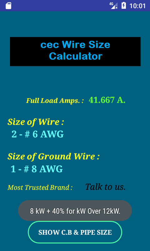 Wire size calculator for ground gallery wiring table and diagram cec wire size calculator full android apps on google play cec wire size calculator full screenshot greentooth Gallery