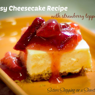 Easy Cheesecake Recipe with Strawberry Topping