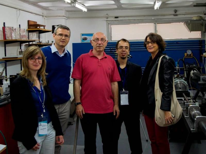 Photo: (right to left) Prof. A. Pandolfi, Prof. J.A. Rodriguez-Martinez, Prof. E. Mazza and soon to be Doc. E. Bortot