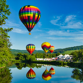 Quechee, VT. Balloon Festival by Chris Arbeene - Transportation Other