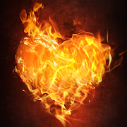 burning heart live wallpaper icon