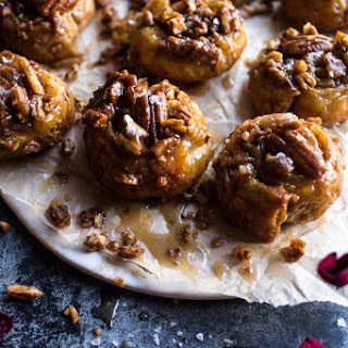 Cheat's Brown Butter and Salted Maple Pecan Sticky Buns.