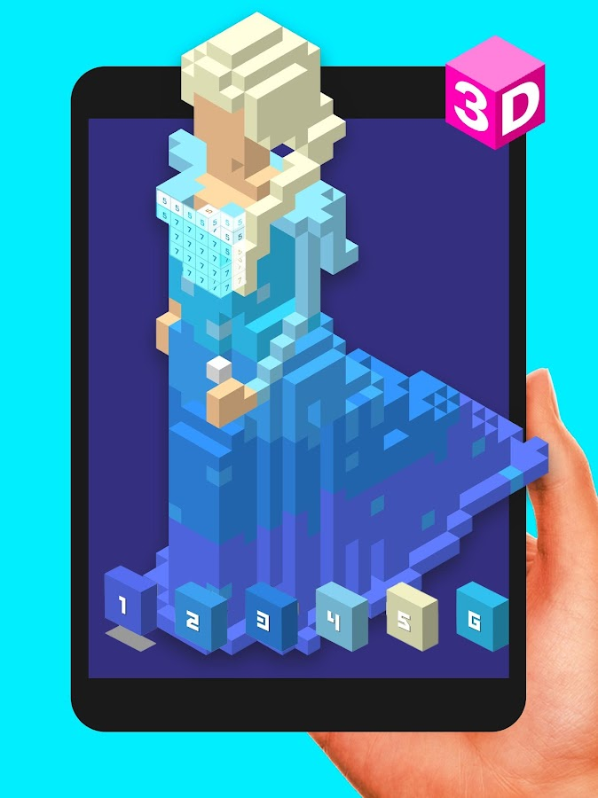 Color by number 3d voxly unicorn pixel art android - Google chrome 3d home design app ...