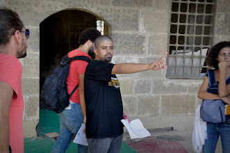 Photo: Ahmad Abdalla & Art Director Nihal Frouk on the set of Rags & Tatters - Cairo 2013 in the City of Dead.